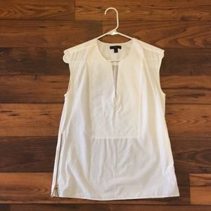J.Crew white top with zipper detail